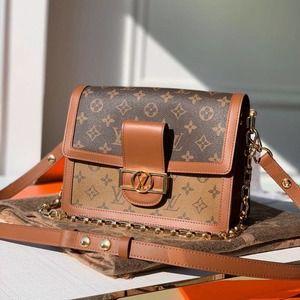 ✨LOUIS VUITTON✨LV RARE Dauphine MM Metis Crossbody Shoulder Bag